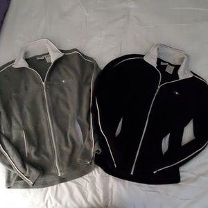 EUC Athletic Works fleece zip sweater jacket set